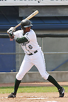 Tim Beckham of the Princeton Devil Rays batting during a game against the Greeneville Astros in an Appalachian League game at Hunnicutt Field in Princeton, WV on July 20, 2008