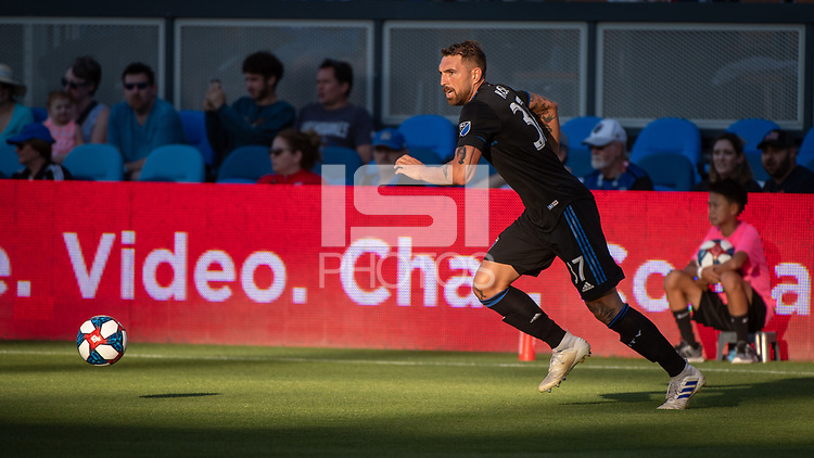 San Jose, CA - Saturday August 03, 2019: Guram Kashia #37 in a Major League Soccer (MLS) match between the San Jose Earthquakes and the Columbus Crew at Avaya Stadium.