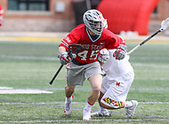 College Park, MD - April 22, 2018: Ohio State Buckeyes Brendan Barger (45) in action during game between Ohio St. and Maryland at  Capital One Field at Maryland Stadium in College Park, MD.  (Photo by Elliott Brown/Media Images International)