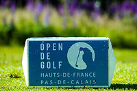 A tee marker during previews ahead of the Hauts de France-Pas de Calais Golf Open, played at Aa Saint-Omer GC, Saint Omer, France. 12/06/2019<br /> Picture: Golffile | Phil Inglis<br /> <br /> <br /> All photo usage must carry mandatory copyright credit (© Golffile | Phil Inglis)