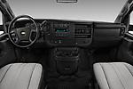 Stock photo of straight dashboard view of a 2017 Chevrolet Express 3500 3500 Extended Work Van 4 Door Cargo Van