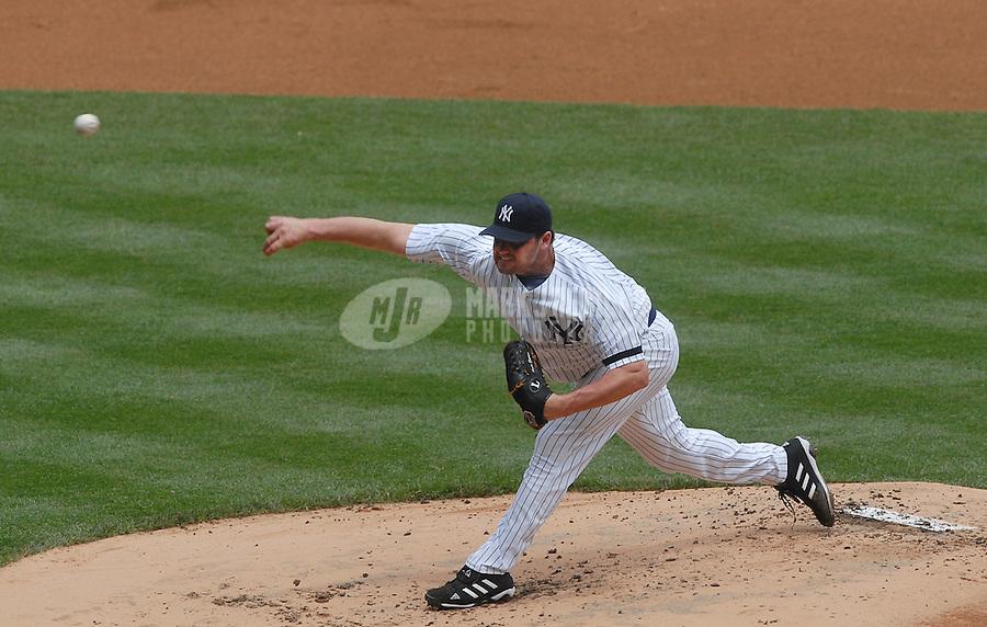 Jun 09, 2007; Bronx, NY, USA; New York Yankees pitcher (22) Roger Clemens pitches against the Pittsburg Pirates at Yankee Stadium. Mandatory Credit: Mark J. Rebilas