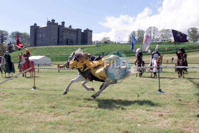 Rider Richard Hansen taking part in the Medieval Festival at Slane Castle on Saturday and Sunday 10th and 11th.Photo Fran Caffrey/Newsfile.ie..This picture has been sent to you by:.Newsfile Ltd,.3 The View,.Millmount Abbey,.Drogheda,.Co Meath..Ireland..Tel: +353-41-9871240.Fax: +353-41-9871260.GSM: +353-86-2500958.ISDN: +353-41-9871010.IP: 193.120.102.198.www.newsfile.ie..email: pictures@newsfile.ie..This picture has been sent by Fran Caffrey.francaffrey@newsfile.ie