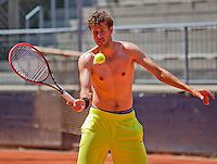 Austria, Kitzbuhel, Juli 15, 2015, Tennis, Davis Cup, Pracise Dutch team, Robin Haase<br /> Photo: Tennisimages/Henk Koster