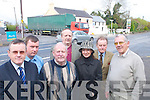 Residents of Farranfore village who.are protesting about the dangerous.junction in the middle of the village.last Wednesday l-r Dr Eamon Shanahan,.Dan Ahern, Sean Sheehan, Tim.Begley, Marie OSullivan, Dr. Paddy.Daly and John ODomoghue