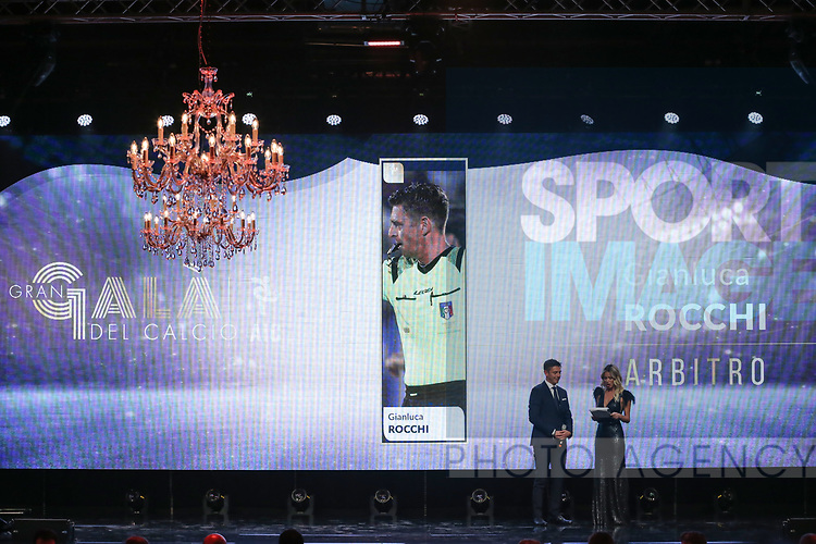 Referee of the Year 2019 Gianluca Rocchi pictured at the The Italian Footballers Association Grand Gala of Football at the Megawatt Court, Milan. Picture date: 2nd December 2019. Picture credit should read: Jonathan Moscrop/Sportimage