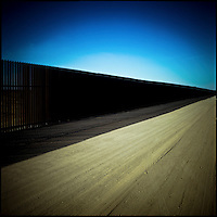 The Mexico border fence near Campo, Southern California.