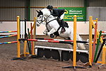 Stapleford Abbotts. United Kingdom. 26 October 2019. Class 5. Preliminary round qualifier 2019/20 winter series. 80cm. Essex hunt north pony club showjumping. Brook Farm training centre. Stapleford Abbotts. Essex. United Kingdom. Credit Garry Bowden/Sport in Pictures.~ 26/10/2019.  MANDATORY Credit Garry Bowden/SIP photo agency - NO UNAUTHORISED USE - 07837 394578