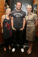NO REPRO FEE. 14/9/2010. launch of Halo: Reach. Pictured at the Odeon Dublin for the launch of Halo: Reach are Ide O Brien Jamie Heaslip and Jackie Brannigan. Halo: Reach tells the tragic and heroic story of Noble Team, a group of Spartans, who through great sacrifice and courage, saved countless lives in the face of impossible odds. Picture James Horan/Collins Photos