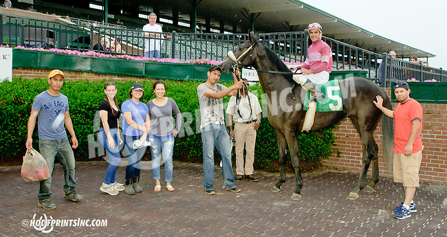 Dry Run winning at Delaware Park racetrack on 6/19/14
