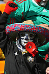 11 JUN 2010: Mexico fan in the stands of the Soccer City Stadium, pregame. The South Africa National Team played the Mexico National Team at Soccer City Stadium in Johannesburg, South Africa in the opening match of the 2010 FIFA World Cup.