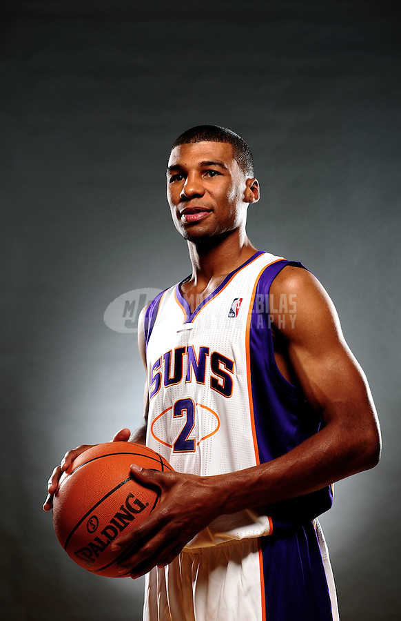 Dec. 16, 2011; Phoenix, AZ, USA; Phoenix Suns guard Ronnie Price poses for a portrait during media day at the US Airways Center. Mandatory Credit: Mark J. Rebilas-
