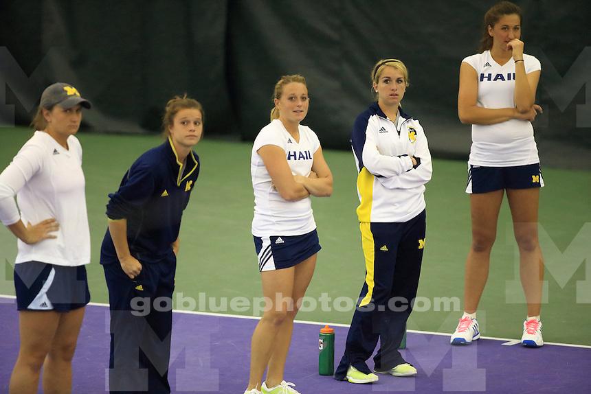 The University of Michigan women's tennis team won their second round of the 2014 Big Ten Women's Tennis Tournament in Evanston, IL at Northwestern University. April 26, 2014