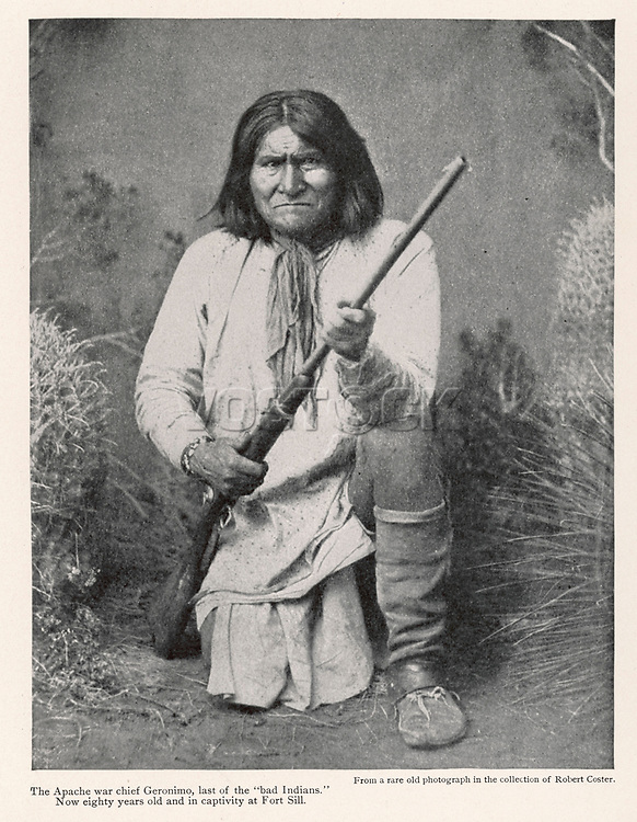 War Chief of the White Mountain Apache [in 1905]     Date: 1829 - 1905     Source: 'Outing' Vol 47. January 1906. page 479