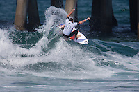 HUNTINGTON BEACH, California - July 29-Aug. 3, 2014: The 2014 Vans US Open of Surfing held on the South side of the Huntington Beach pier.Mitch
