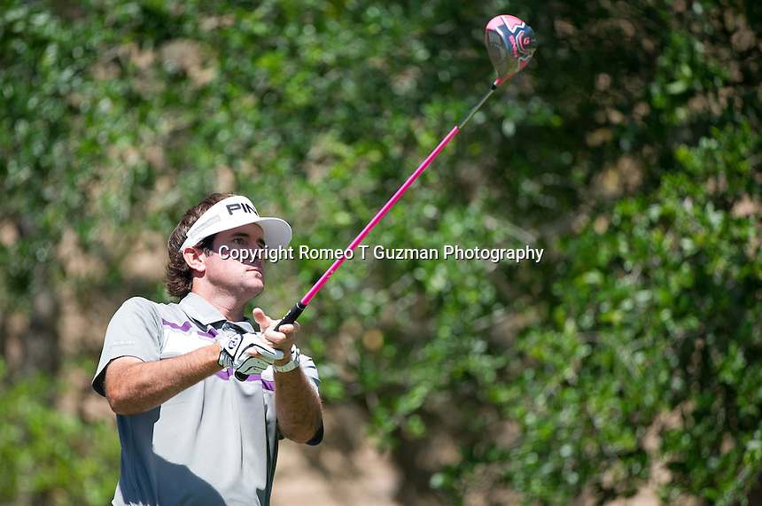 March 25, 2012: Bubba Watson on the 5th tee during final round golf action of the Arnold Palmer Invitational held at Arnold Palmer's Bay Hill Club & Lodge in Orlando, FL