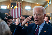 2020 Democratic Presidential candidate, Joe Biden, salutes  as he works the rope line after speaking at a campaign event in Burlington, Iowa on Wednesday, August 7, 2019. Biden is kicking off a 4 day tour of Iowa. <br /> CAP/MPI/RS<br /> ©RS/MPI/Capital Pictures