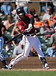 The Giants and the Diamondbacks compete in a spring training game in Scottsdale, Ariz., on Thursday, March 14, 2019. The D-backs won 3-0.<br /> Photo by Cathleen Allison/Nevada Momentum