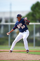 Minnesota Twins pitcher Jose Martinez (62) during an Instructional League game against the Boston Red Sox on September 24, 2016 at CenturyLink Sports Complex in Fort Myers, Florida.  (Mike Janes/Four Seam Images)