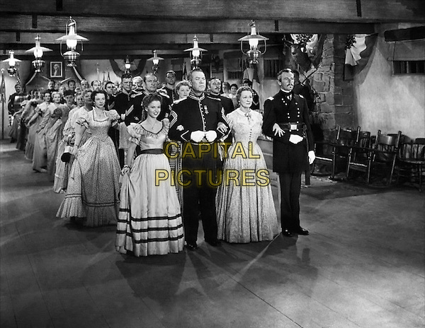 CAST - (1st Row L to R) Shirley Temple,.Ward Bond, Irene Rich, Henry Fonda (2nd Row L) Anna Lee, Victor McLaglen.in Fort Apache.*Filmstill - Editorial Use Only*.CAP/PLF.Supplied by Capital Pictures.
