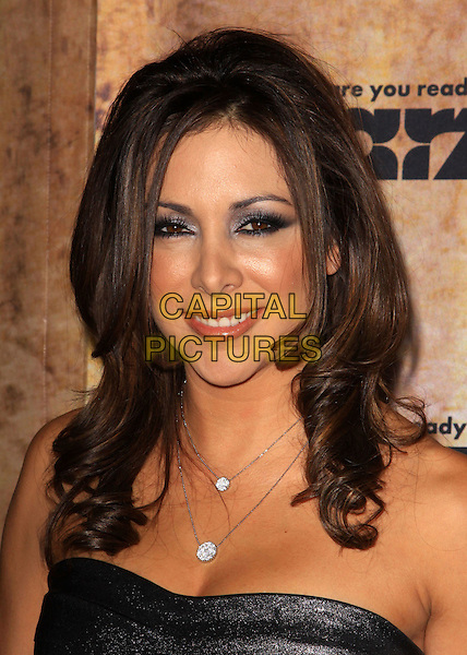 ARLENE TUR.Starz original TV series 'Spartacus: Blood and Sand' held At The Hammer Museum, Westwood, California, USA..January 14th, 2010.headshot portrait necklace black sparkly shiny silver metallic strapless eyeshadow eyeliner.CAP/ADM/KB.©Kevan Brooks/AdMedia/Capital Pictures.