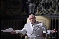 Pope Francis during general audience at the Vatican,.February. 10, 2016