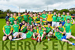The St Patricks, Castleisland team celebrate after defeating PS Sliabh Luachra in the u16 b final in Killarney on Monday
