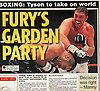 """First class..."".Tyson Fury vs Neven Pajkic. Daily Star 14/11/11."