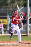 Indiana Hoosiers Nick Ramos (1) during a game against the St. Joseph's Hawks on March 7, 2015 at North Charlotte Regional Park in Port Charlotte, Florida.  Indiana defeated St. Joseph's 3-2.  (Mike Janes/Four Seam Images)