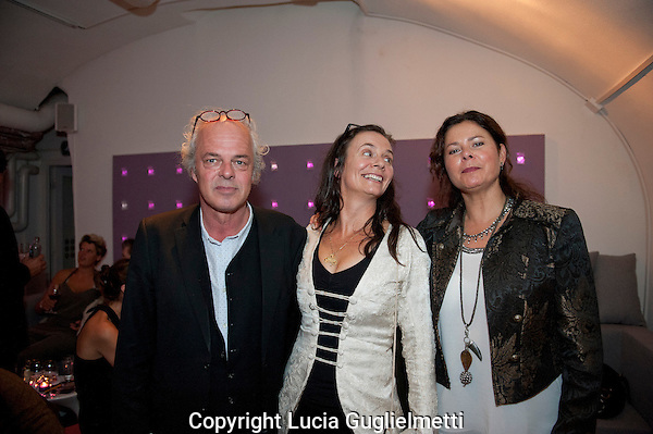 Utrecht, september 30, 2012.NFF Utrecht, .Diner Silent City crew.Threes Anna,Hanneke Niens..Photo: Lucia Guglielmetti