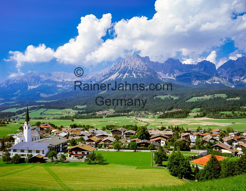Austria, Tyrol, Ellmau: holiday region at Wilder Kaiser mountains | Oesterreich, Tirol, Ellmau: Urlaubsregion am Wilden Kaiser