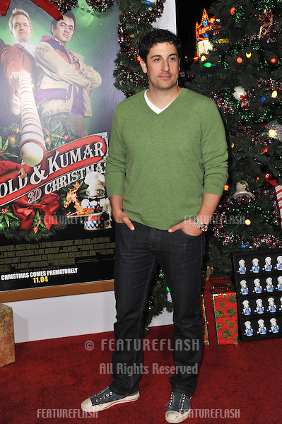"Jason Biggs at the Los Angeles premiere of ""A Very Harold & Kumar 3D Christmas"" at Grauman's Chinese Theatre, Hollywood..November 2, 2011  Los Angeles, CA.Picture: Paul Smith / Featureflash"