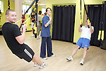 Colm Rafferty and Shane McCann of Boyne Rovers try out a TRX Class in Lab Fitness Gym, Greenhills....Photo NEWSFILE/Jenny Matthews.(Photo credit should read Jenny Matthews/NEWSFILE)....This Picture has been sent you under the condtions enclosed by:.Newsfile Ltd..The Studio,.Millmount Abbey,.Drogheda,.Co Meath..Ireland..Tel: +353(0)41-9871240.Fax: +353(0)41-9871260.GSM: +353(0)86-2500958.email: pictures@newsfile.ie.www.newsfile.ie.FTP: 193.120.102.198.