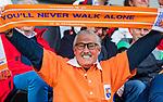 AMSTELVEEN -  supporter Jan Kruiswijk. tijdens de play-offs hoofdklasse  heren , Amsterdam-Bloemendaal (0-2).    COPYRIGHT KOEN SUYK