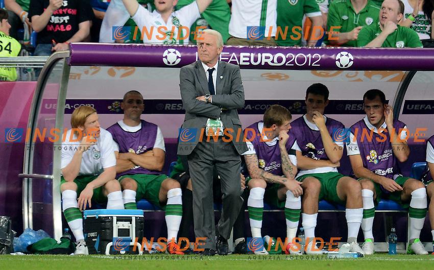 "Giovanni Trapattoni.Poznan 18/06/2012  """"Stadion Miejski"".Football calcio Europeo 2012 Italia Vs Irlanda.Football Calcio Euro 2012.Foto Insidefoto Alessandro Sabattini..."