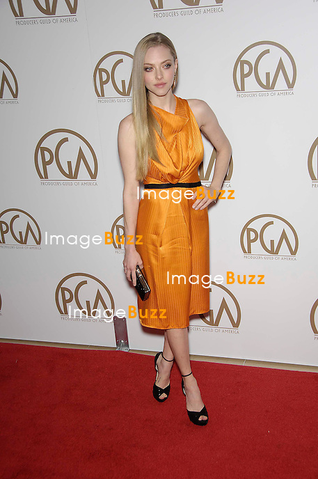 Amanda Seyfried, 24th Annual Producers Guild Awards held at The Beverly Hilton Hotel in Beverly Hills..Los Angeles, January 25, 2013.