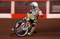 Leigh Adams of Swindon - Lakeside Hammers vs Swindon Robins, Elite League Speedway at the Arena Essex Raceway, Purfleet - 03/09/10 - MANDATORY CREDIT: Rob Newell/TGSPHOTO - Self billing applies where appropriate - 0845 094 6026 - contact@tgsphoto.co.uk - NO UNPAID USE.