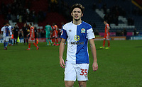 Blackburn Rovers' Lewis Travis celebrate todays win at the end of todays match<br /> <br /> <br /> Photographer Rachel Holborn/CameraSport<br /> <br /> The EFL Sky Bet League One - Blackburn Rovers v Shrewsbury Town - Saturday 13th January 2018 - Ewood Park - Blackburn<br /> <br /> World Copyright &copy; 2018 CameraSport. All rights reserved. 43 Linden Ave. Countesthorpe. Leicester. England. LE8 5PG - Tel: +44 (0) 116 277 4147 - admin@camerasport.com - www.camerasport.com
