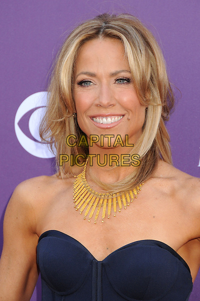 Sheryl Crow.48th Annual Academy of Country Music Awards - Arrivals held at the MGM Grand Garden Arena, Las Vegas, California, USA..April 7th, 2013.headshot portrait gold necklace blue strapless  .CAP/ADM/BP.©Byron Purvis/AdMedia/Capital Pictures.