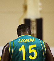 Boomers forward Nathan Jawai prepares to take a penalty during the International basketball match between the NZ Tall Blacks and Australian Boomers at TSB Bank Arena, Wellington, New Zealand on 25 August 2009. Photo: Dave Lintott / lintottphoto.co.nz