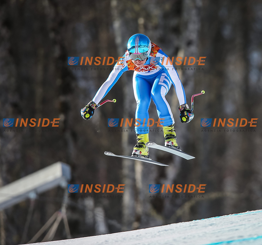 10.02.2014, Rosa Khutor Alpine Center, Krasnaya Polyana, RUS, Sochi 2014, Super-Kombination, Damen, Abfahrt, im Bild Francesca Marsaglia ( ITA) // Francesca Marsaglia of Italy during the Downhill of the Women's Super Combined of the Olympic Winter Games 'Sochi 2014' at the Rosa Khutor Alpine Center in Krasnaya Polyana, Russia on 2014/02/10. EXPA Pictures &copy; 2014, PhotoCredit: EXPA/ Johann Groder <br /> Olimpiadi Sochi 2014 Winter Games <br /> Sci Alpino - Super Combinata donne <br /> Foto Insidefoto