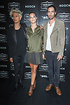 Left to right guest, Nina Agdal and Tyson Ritter attend the Thursday Boot Company Presentation at Vandal on September 13, 2017 in New York City.