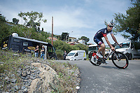 Roger Kluge (DEU/IAM) returning from the TTT recon<br /> <br /> 2015 Giro<br /> startzone of stage 1: San Lorenzo Al Mare - San remo (TTT/17.6km)