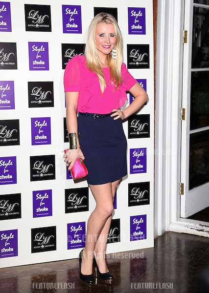Carley Stenson arriving for the Style for Stroke Party, 5 Cavendish Square, London. 02/10/2012 Picture by: Alexandra Glen / Featureflash