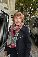 Edith Cresson - Hommage à Gonzague Saint Bris en l'église Saint-Sulpice à Paris, France - 28/09/2017