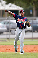 Minnesota Twins Aderling Mejia #5 during a minor league spring training intrasquad game at the Lee County Sports Complex on March 25, 2012 in Fort Myers, Florida.  (Mike Janes/Four Seam Images)