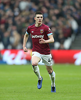 West Ham United's Declan Rice<br /> <br /> Photographer Rob Newell/CameraSport<br /> <br /> The Premier League - West Ham United v Arsenal - Saturday 12th January 2019 - London Stadium - London<br /> <br /> World Copyright © 2019 CameraSport. All rights reserved. 43 Linden Ave. Countesthorpe. Leicester. England. LE8 5PG - Tel: +44 (0) 116 277 4147 - admin@camerasport.com - www.camerasport.com