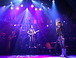 """CJ Eldred and Kristen Scott during the tech rehearsal for """"Rock of Ages"""" 10th Anniversary Production on June 13, 2019 at the New World Stages in New York City."""