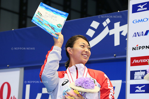 Satomi Suzuki,<br /> MAY 23, 2015 - Swimming :<br /> Japan Open 2015<br /> Women's 50m Breaststroke<br /> Award Ceremony<br /> at Tatsumi International Swimming Pool in Tokyo, Japan.<br /> (Photo by Yohei Osada/AFLO SPORT) [1156]