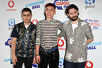 Years &amp; Years in the press room for the Capital Summertime Ball 2018 at Wembley Arena, London, UK. <br /> 09 June  2018<br /> Picture: Steve Vas/Featureflash/SilverHub 0208 004 5359 sales@silverhubmedia.com